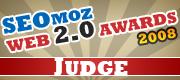 SEOmoz Web 2.0 Awards 2008 - Official Judge